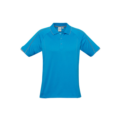 MENS BLADE POLO CYAN/SILVER GREY P303MS 2XL